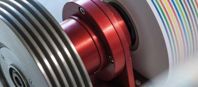 Einseitig gelagerte Wickelwelle mit Lagereinheit und Bremse / Kupplung