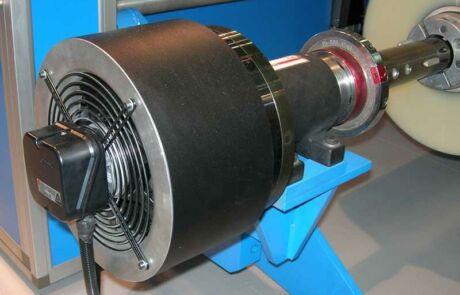 Große Magnetpulverbremse