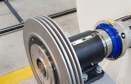 Magnetpulverbremse mit Radiator